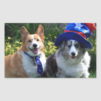 Uncle Sam & Betsy Ross Rectangular Sticker