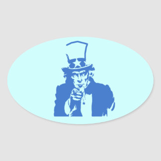 Uncle Sam (Blue) on Stickers