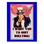 "Uncle Sam Bullying Postcard ""I want You To Quit!"""