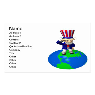 Uncle Sam Business Card Templates