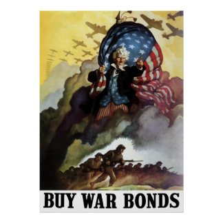 Uncle Sam -- Buy War Bonds Poster