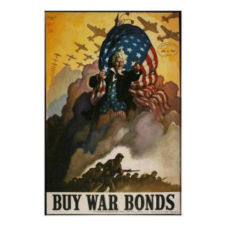Uncle Sam: Buy War Bonds Poster