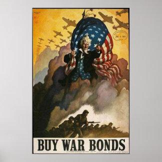 Uncle Sam: Buy War Bonds Poster