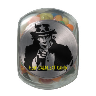 UNCLE SAM - Candy Jar Glass Candy Jar