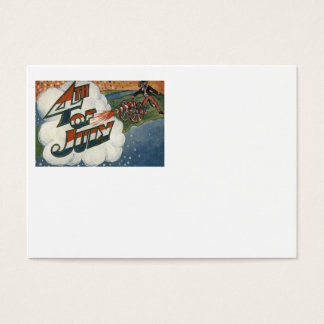Uncle Sam Cannon Fire Stars 4th of July Business Card