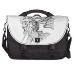 Uncle Sam Carrying Flag and Patriotic Child Bags For Laptop