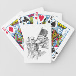 Uncle Sam Carrying Flag and Patriotic Child Bicycle Poker Deck