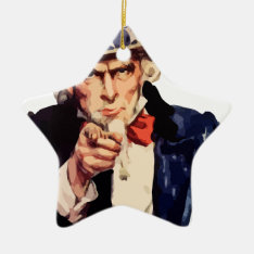 Uncle Sam Ceramic Ornament at Zazzle