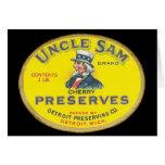 Uncle Sam Cherry Preserves Card