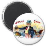 Uncle Sam Cigars July 4th Vintage Refrigerator Magnets