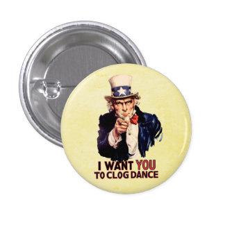 Uncle Sam Clogging Dance 1 Inch Round Button