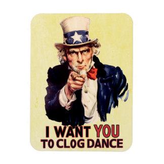 Uncle Sam Clogging Dance Rectangular Photo Magnet
