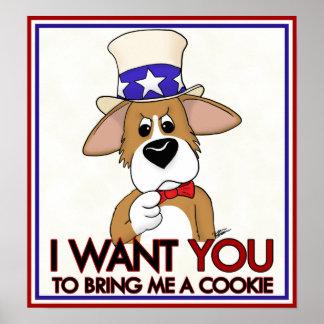 Uncle Sam Corgi Poster
