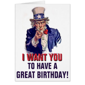 Uncle Sam Custom Birthday Greeting Card