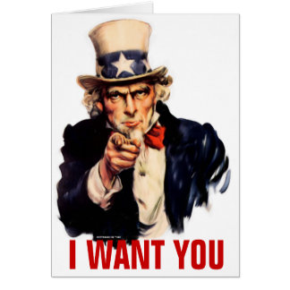 Uncle Sam Customizable Card