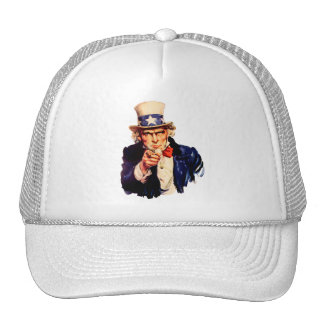 Uncle Sam Customizable Hat - (Add Your Own Text!)