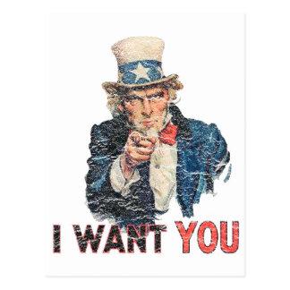 Uncle Sam Distressed Look Postcard