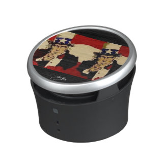 Uncle Sam (double) painting on a Bumpster Speakers