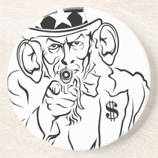 Uncle Sam Drink Coaster