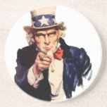 "Uncle Sam Drink Coaster<br><div class=""desc"">america usa election united states merica</div>"