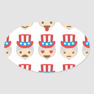 uncle sam emoji oval sticker