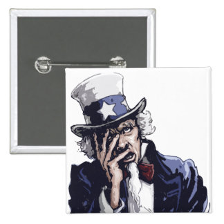 Uncle Sam Facepalm Pinback Buttons