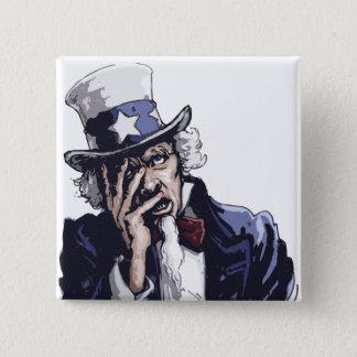 Uncle Sam Facepalm Pinback Button