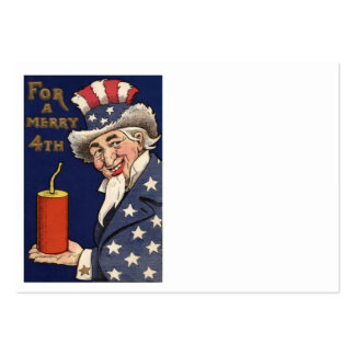 Uncle Sam Fireworks Firecracker Large Business Card
