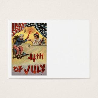 Uncle Sam Fireworks Firecracker US Flag Business Card