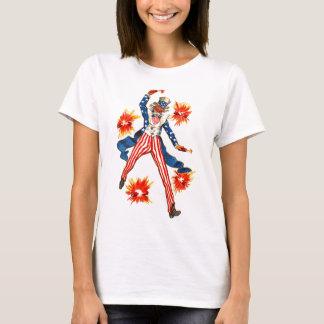 Uncle Sam Fireworks July 4th Patriotic Vintage T-Shirt