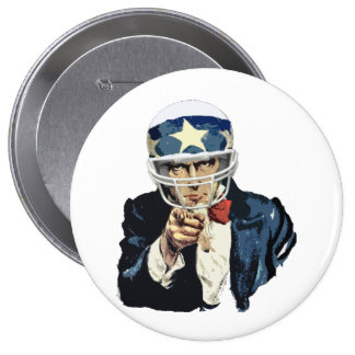 uncle sam football pinback button