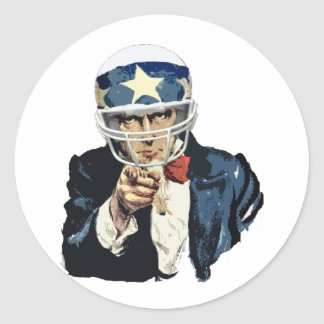 uncle sam football stickers