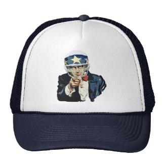 uncle sam football trucker hat