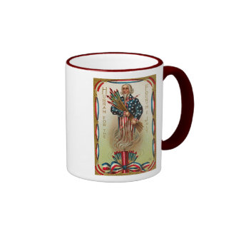 Uncle Sam Forth of July Mugs