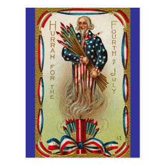 Uncle Sam Forth of July Post Cards