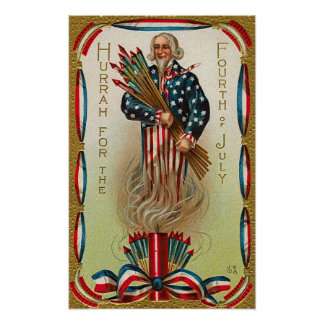 Uncle Sam Forth of July Poster