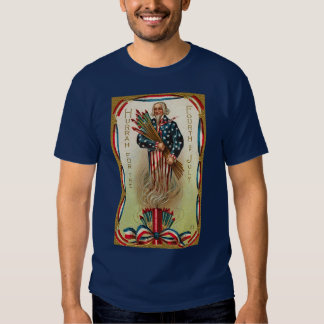 Uncle Sam Forth of July Tee Shirt