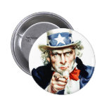 Uncle Sam - from vintage Flagg poster 2 Inch Round Button