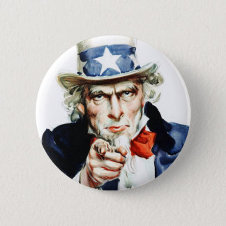 Uncle Sam - from vintage Flagg poster Pinback Button