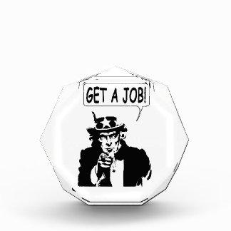 Uncle Sam Get A Job Acrylic Award