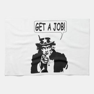 Uncle Sam Get A Job Hand Towels
