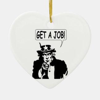 Uncle Sam Get A Job Christmas Tree Ornaments