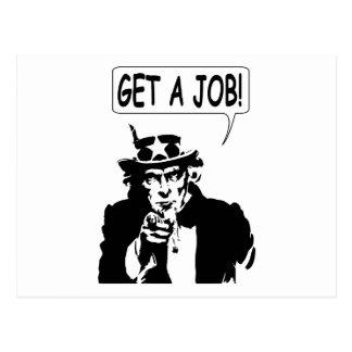 Uncle Sam Get A Job Postcard