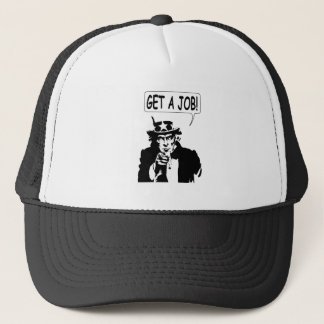 Uncle Sam Get A Job Trucker Hat
