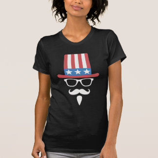Uncle Sam Glasses And Mustache Tee Shirt