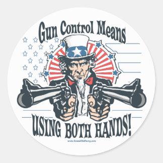 Uncle Sam Gun Control Sticker