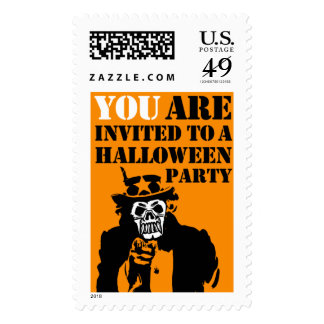 Uncle Sam Halloween Party Invitation Postage