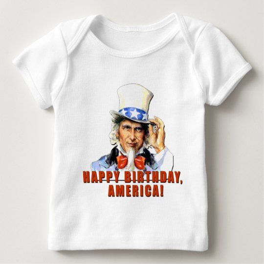 Uncle Sam Happy Birthday America Tshirt