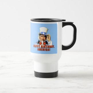 Uncle Sam Happy Birthday America Tshirt Mugs