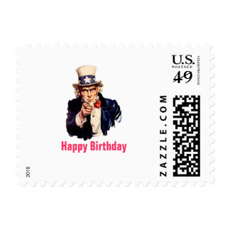 Uncle Sam Happy Birthday Postage